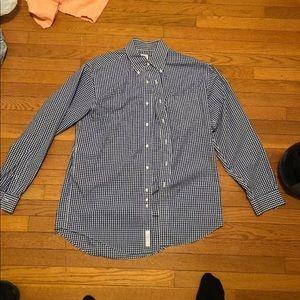 Brooks Brothers 346 Blue Striped Dress Shirt
